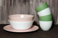 Large and small bowls Stock Photography
