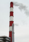 Large and Small Chimney Stacks Royalty Free Stock Photo