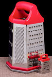 Large and small kitchen grater Royalty Free Stock Images
