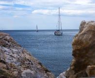 Large and Small Sailboats Royalty Free Stock Photos