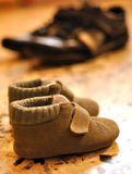 Large and small shoes Stock Photography