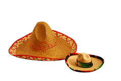 Large and small Sombreros Stock Photography