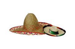 Large and small Sombreros Stock Image