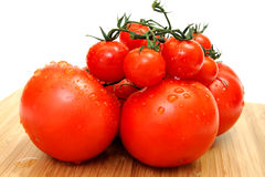 Large And Small Tomato Stock Photos