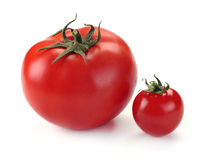 Large and small tomato Stock Photo