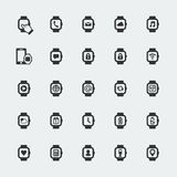 Large smart watch vector icons Stock Photos