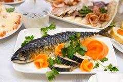 Large smoked mackerel Stock Image