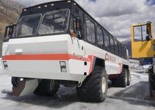 Large snowmobiles Stock Photo