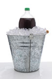 Large Soda Bottle in Ice Bucket Royalty Free Stock Photo