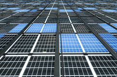 Large Solar Panel Installation Royalty Free Stock Images