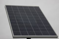 A large solar panel on light grey background. solar energy, Eco energy. royalty free stock photos