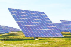 Large solar panels alternative energy. Stock Photos