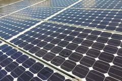 Large solar photovoltaic panels Stock Image