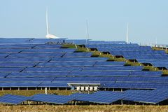 Large solar plant Stock Photo