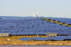 Large solar plant Stock Photos