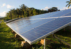 Large solar power installation in tropics Royalty Free Stock Photography