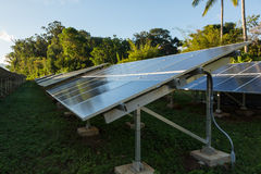 Large solar power installation in tropics Stock Image