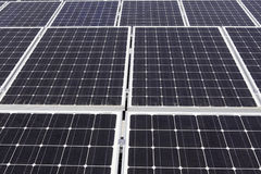 Large solar power panels Stock Images