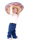 Large Sombrero On Toddler Royalty Free Stock Photography