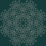 Large sophisticated symmetric floral pattern in Arab style Stock Photography