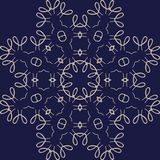 Large sophisticated symmetric floral pattern in Celts style Royalty Free Stock Images
