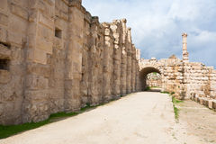 The Large South Theatre in Jerash, Jordan Stock Images