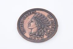 Large Souvenir Cent Coin Royalty Free Stock Photos