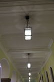 Large spaces lighting variant. Lamp as the idea of the large public premises lighting Stock Photo