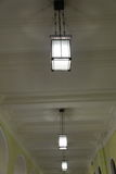 Large spaces lighting variant. Lamp as the idea of the large public premises lighting Stock Images