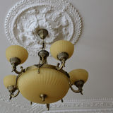 Large spaces lighting variant. Lamp as the idea of the large public premises lighting Royalty Free Stock Photos