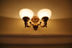 Large spaces lighting variant. Lamp as the idea of the large public premises lighting Royalty Free Stock Image