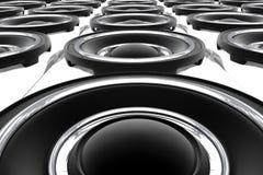 Large Speakers Stock Photo