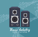 Large speakers isolated icon design Stock Images