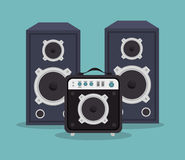 Large speakers isolated icon design Royalty Free Stock Image