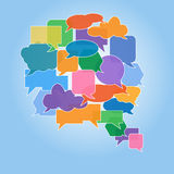 Large speech bubble made from small bubbles Royalty Free Stock Photos