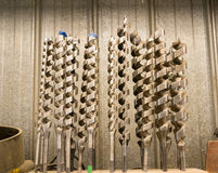 Large Spiral Drill Bits Royalty Free Stock Images