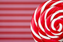 Large spiral lollipop on stick Stock Photo