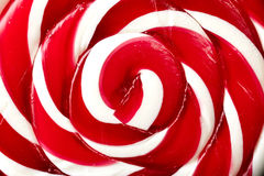Large spiral lollipop on stick Stock Photography