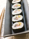 Large Spiral Rolled Sushi Royalty Free Stock Photos