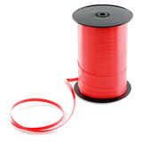 Large spool of red ribbon. Royalty Free Stock Images