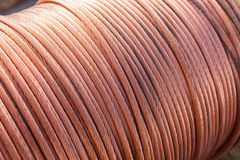 Large spools of electric cable Royalty Free Stock Photo