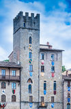 Large square in Arezzo Royalty Free Stock Images