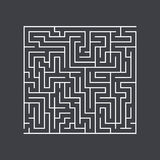 Large square maze confusion conundrum on a dark background Royalty Free Stock Photography