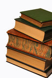 Large Stack of Books. A large stack of antique books against a white background Royalty Free Stock Photo