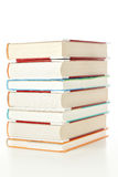 Large stack of books from the library. royalty free stock photo