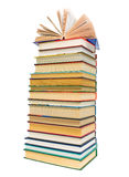 A large stack of books on white background Stock Images