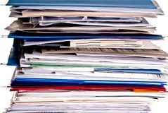 Large stack of business files Royalty Free Stock Photos