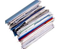 Large stack of business files Stock Photography