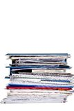 Large stack of business files Royalty Free Stock Photo