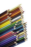 A large stack of colored pencils for school Stock Image